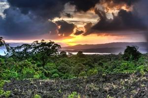 Half Obscured Sun Costa Rica