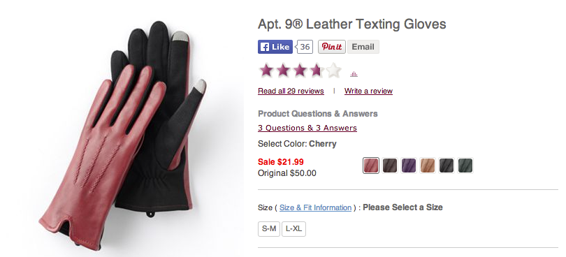 Leather Texting Gloves