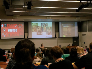 Gini Dietrich talks the PR of Miley during her keynote
